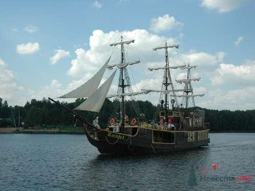 """Фрегат: Пироговское водохранилище - фото 74085 СК """"Виктория"""" - свадьба на яхте,парусном фрегате"""
