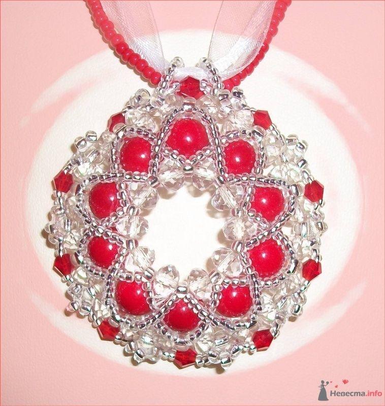 Красный бублик на тесемочке, Чешская фурнитура - фото 79271 Невеста01