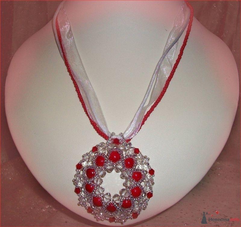 Красный бублик на тесемочке, Чешская фурнитура - фото 79280 Невеста01