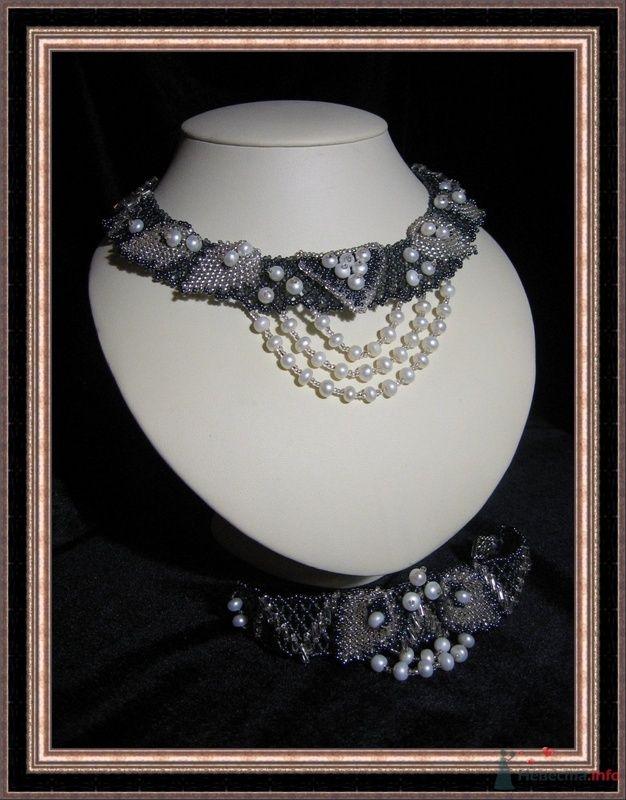 Набор(ожерелье, браслет). Из бисера и жемчуга - фото 79294 Невеста01