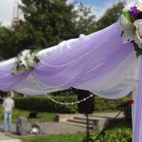 Оформление свадьбы цветами и тканями