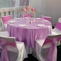 сиреневая свадьба в шатре
