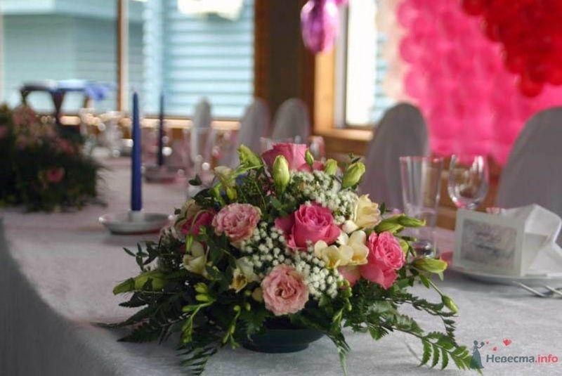 Фото 38690 в коллекции Украшение банкетного зала цветами