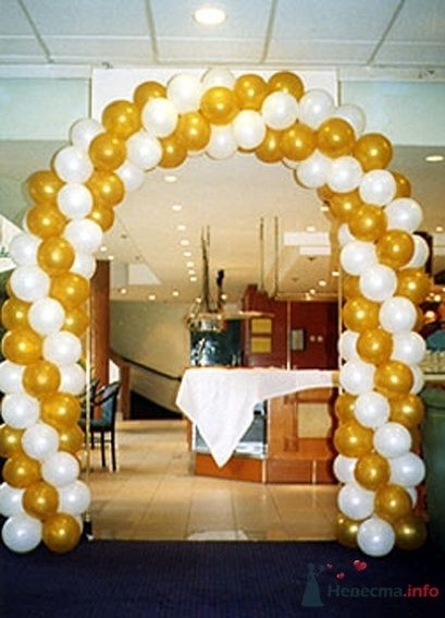 Фото 38709 в коллекции Украшение банкетного зала воздушными шарами