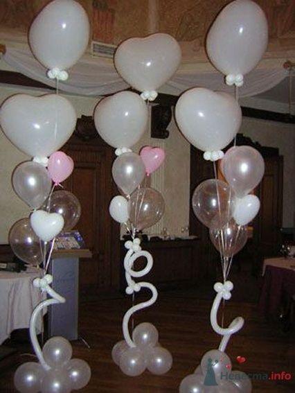 Фото 54464 в коллекции Украшение банкетного зала воздушными шарами