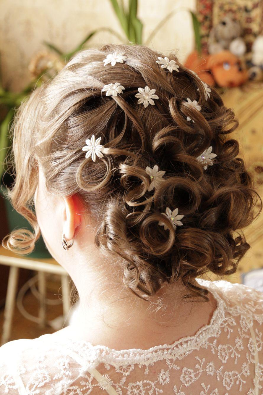 Прически невесте на волосы по плечи