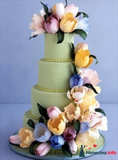 Фото 83100 в коллекции свадебные торты - Ленусечка