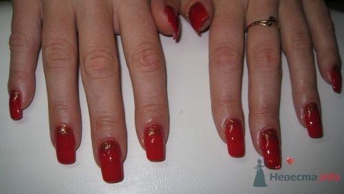 Красные ногти - фото 6227 PerfectioNails - наращивание ногтей гелем и акрилом