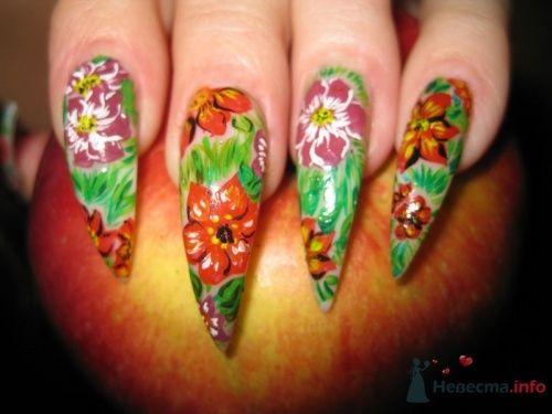 Росписные ногти - фото 6235 PerfectioNails - наращивание ногтей гелем и акрилом