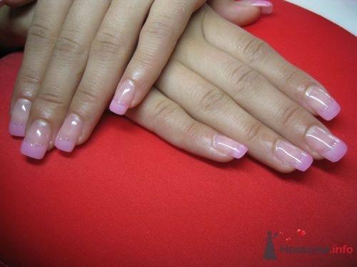 Розовый френч  - фото 6237 PerfectioNails - наращивание ногтей гелем и акрилом
