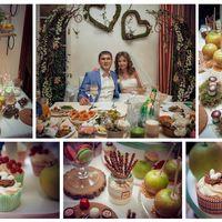Стол жениха и невесты, сладкий стол