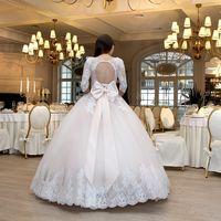 """Пышное cвадебное платье с рукавом """"Розали"""".  Цвет: пудровый."""