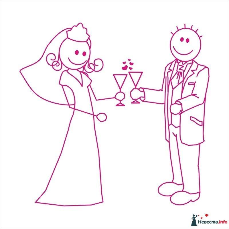 Эскиз фототорта - фото 88829 Hезабудинка - свадебный распорядитель