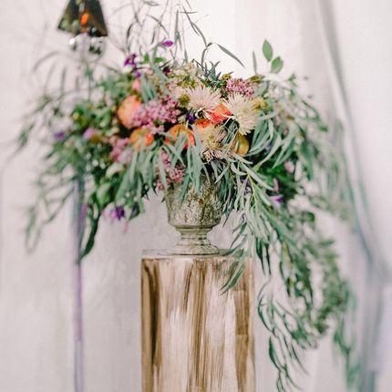 Кубок под цветочную композицию светлый