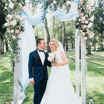Оформение свадебной арки