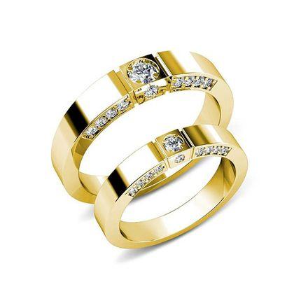 Обручальные кольца из золота на заказ