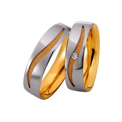Комбинированные обручальные кольца на заказ