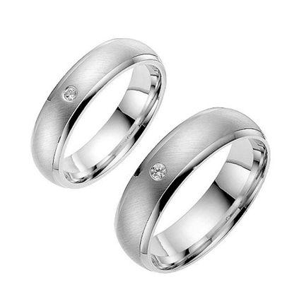 Обручальные кольца из белого золота матовые на заказ