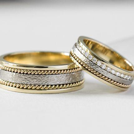 Обручальные кольца с дорожками (Арт 1555)