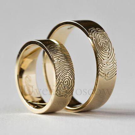 Обручальные кольца с отпечатками (арт35.11)