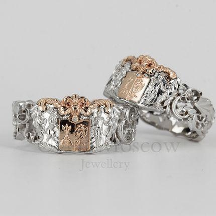 Обручальные кольца с геральдикой (арт.3515)