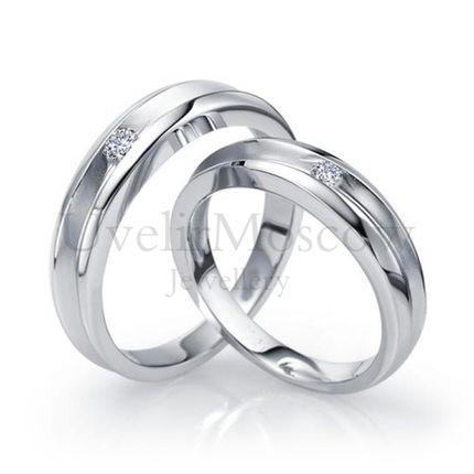 Обручальные кольца с бриллиантами (Арт 59)