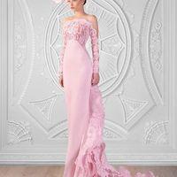 Королевское вечернее платье. Розовая нежность