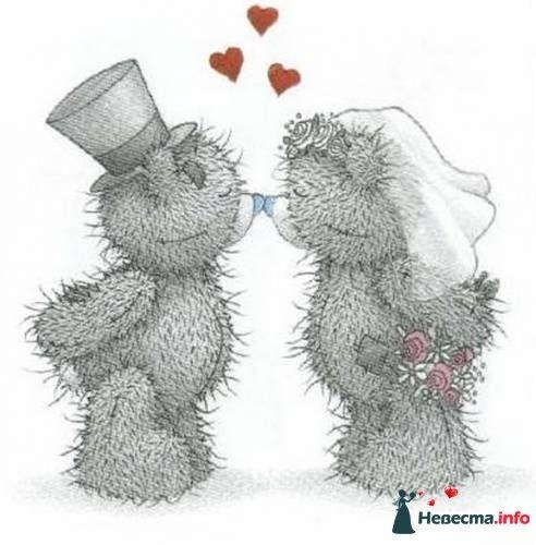 """Фото 113679 в коллекции Свадебные бокалы с мишками Тедди - """"Aнютa"""" - свадебные бокалы и аксессуары"""