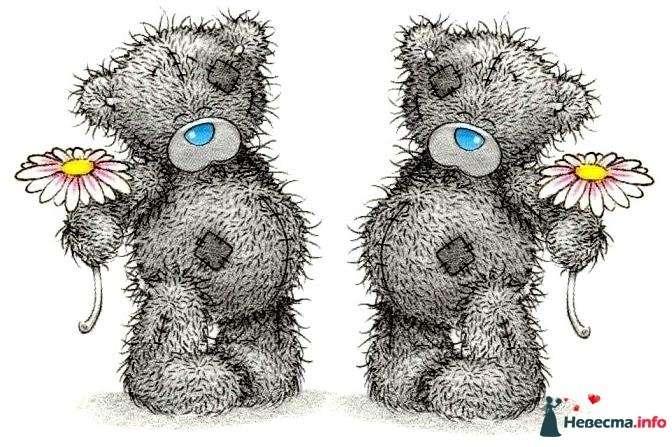 """Мишки-Тедди  пример рисунка на бокалы - фото 122905 """"Aнютa"""" - свадебные бокалы и аксессуары"""