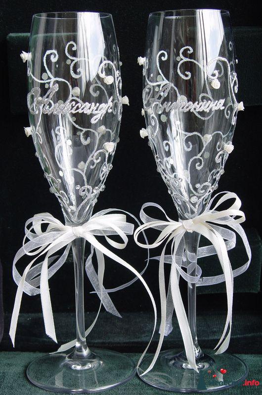 """Фото 126823 в коллекции Свадебные бокалы модель """"Любовь и розы""""  - """"Aнютa"""" - свадебные бокалы и аксессуары"""