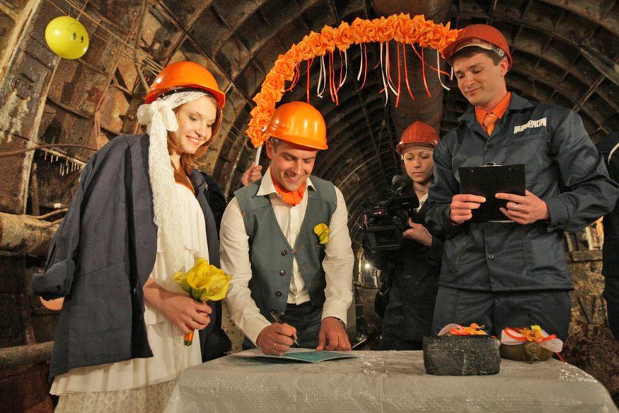 Выездная церемония в шахте метро - фото 762815 Ведущий Григорий Разумовский