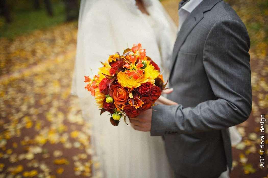 Свадьба осенью букет, цветов золотая
