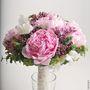 Букет невесты из розовых пионов, сирени и розовых роз