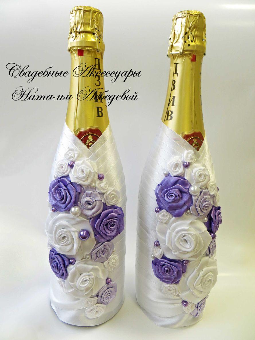 Как сделать свадебное шампанское из лент своими руками