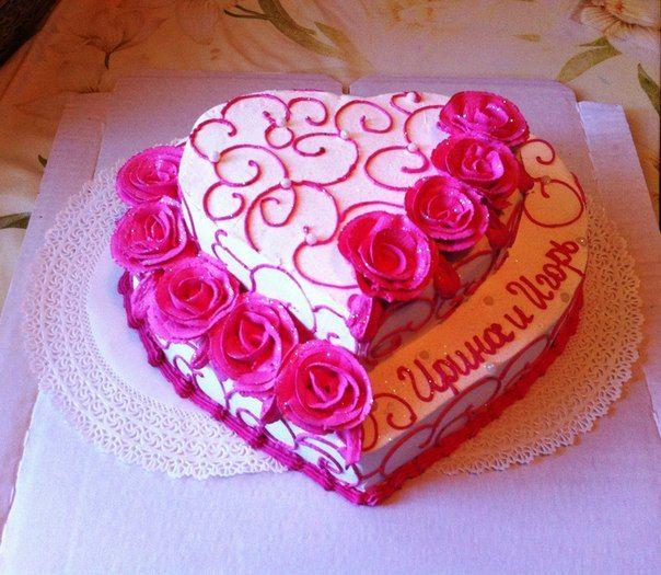 Кремовые торты на годовщину свадьбы фото