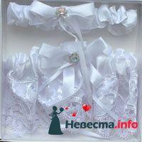 """Подвязка для невесты двойная - фото 95044 """"Брачные Узы"""" - свадебные аксессуары"""