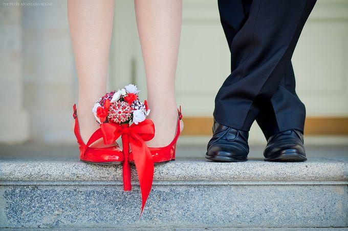 туфли и букетик