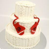 Вязанный торт Даши и Артема