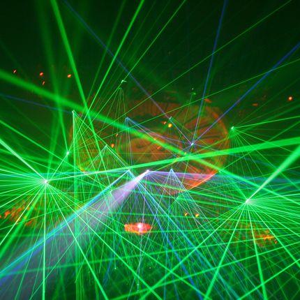 LaserHarp - лазерная арфа, от 6 до 20 минут