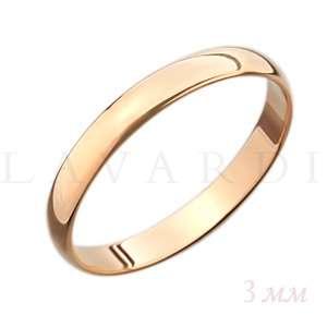 """Гладкое обручальное кольцо. ширина 3мм. Цена 3100 рублей за кольцо (цена может быть больше или меньше взависимости от размера и веса). 585 проба. - фото 1234221 Салон обручальных колец """"Lavardi"""""""