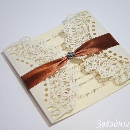 Свадебные приглашения с лазерной резкой