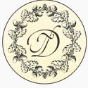 монограмма для декора баночек с вареньем или медом (Галина и Дмитрий Поповы)