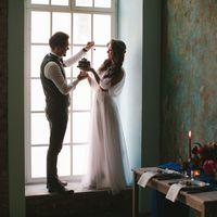 невеста, букет невесты, синий, бордовый, бохо, рустик, торт