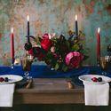бохо, бордовый, синий, букет, невеста, жених, богемный шик, сервировка