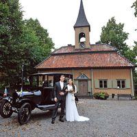 ретро машина, свадьба в швеции