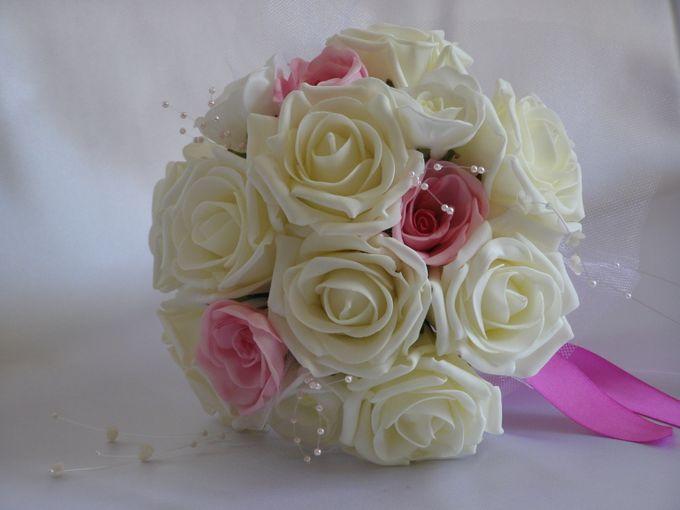 Свадебный букет из искусственных роз своими руками