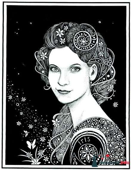 Стилизованный женский портрет - фото 102356 Yaponka