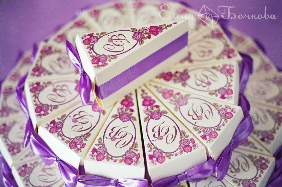 Коробочка для торта с пожеланиями