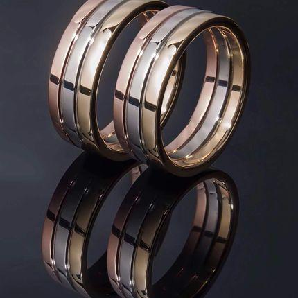Свадебные кольца комбинированные из платины