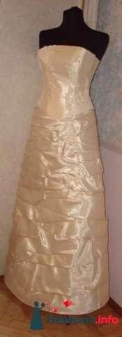 авторское платье цвета  шампань Жемчуг,  40-44 размер, 2000р прокат+4000р. залога - фото 101251 Платье для Золушки - прокат свадебных платьев